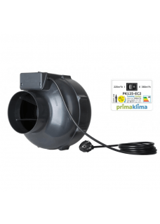 Prima Klima EC2 2-Speed Ventilator 125mm 220-360m³/h